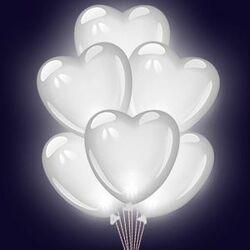 Шары Сердца белые
