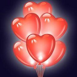 Шары Сердца красные